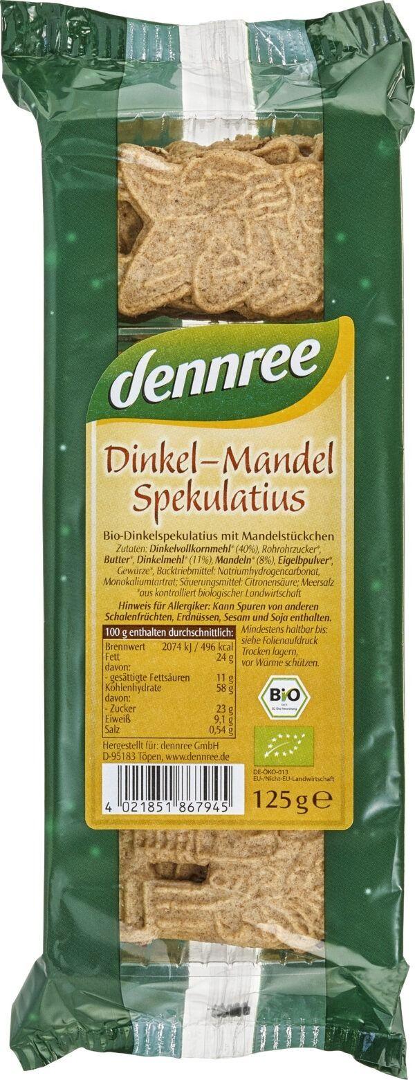 dennree Dinkel-Mandel-Spekulatius 6x125g