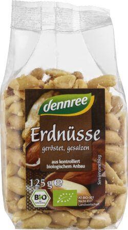 dennree Erdnüsse geröstet, gesalzen 8x125g
