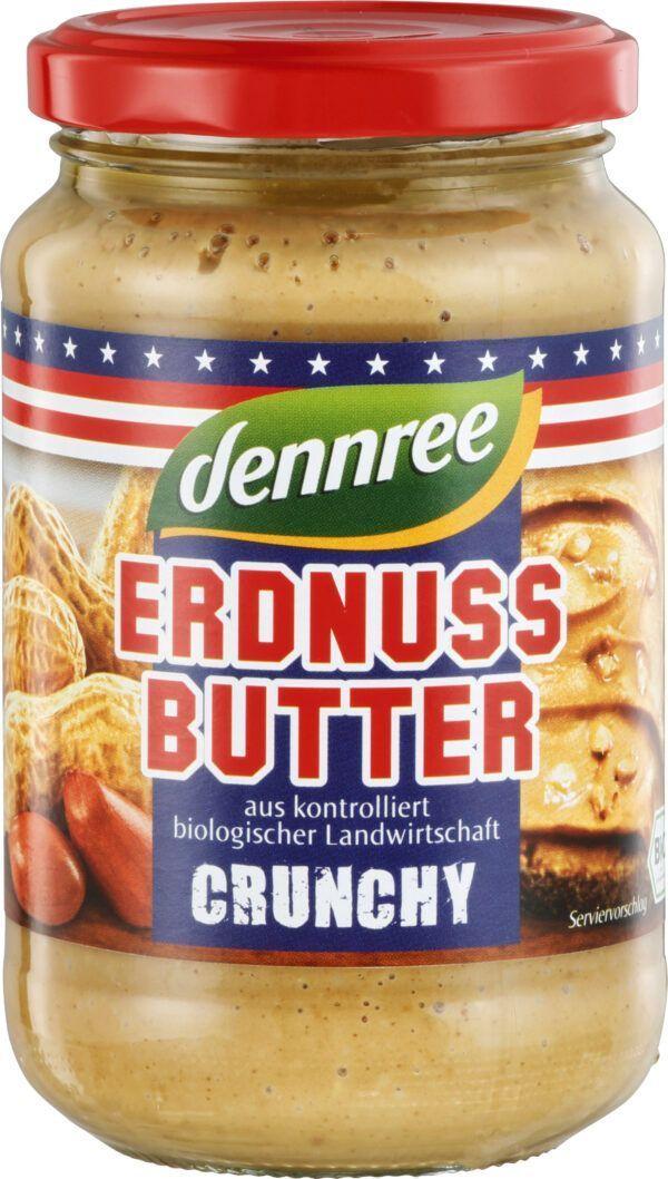 dennree Erdnussbutter Crunchy 350g