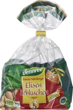 dennree Feinste Nürnberger Elisen-Lebkuchen, vegan 10x275g