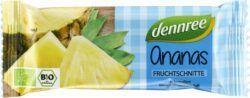 dennree Fruchtschnitte Ananas 16x40g
