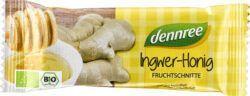 dennree Fruchtschnitte Ingwer-Honig 16x40g