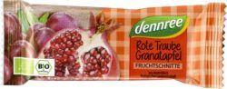 dennree Fruchtschnitte Rote Traube-Granatapfel 16x40g