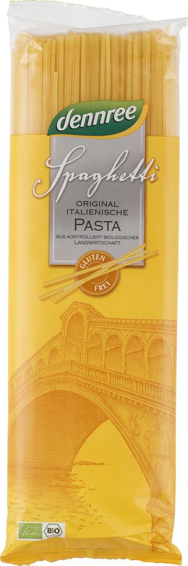 dennree Glutenfreie Spaghetti aus Mais- und Reismehl 12x500g