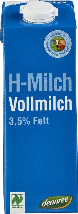 dennree H-Vollmilch 3,5% Fett 12x1l
