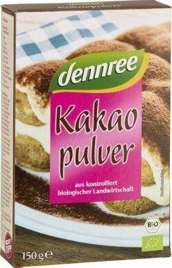 dennree Kakaopulver, Kakaobutteranteil 20-22% 12x150g
