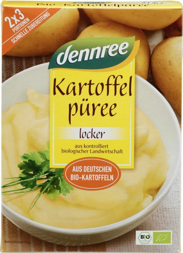 dennree Kartoffelpüree, aus deutschen Bio-Kartoffeln 10x160g