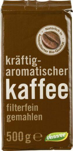 dennree Kräftig-aromatischer Kaffee, filterfein gemahlen 12x500g