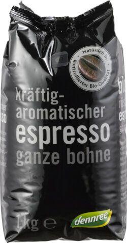 dennree Kräftig-aromatischer Espresso, ganze Bohne 6x1kg