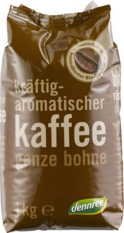 dennree Kräftig-aromatischer Kaffee ganze Bohne 6x1kg