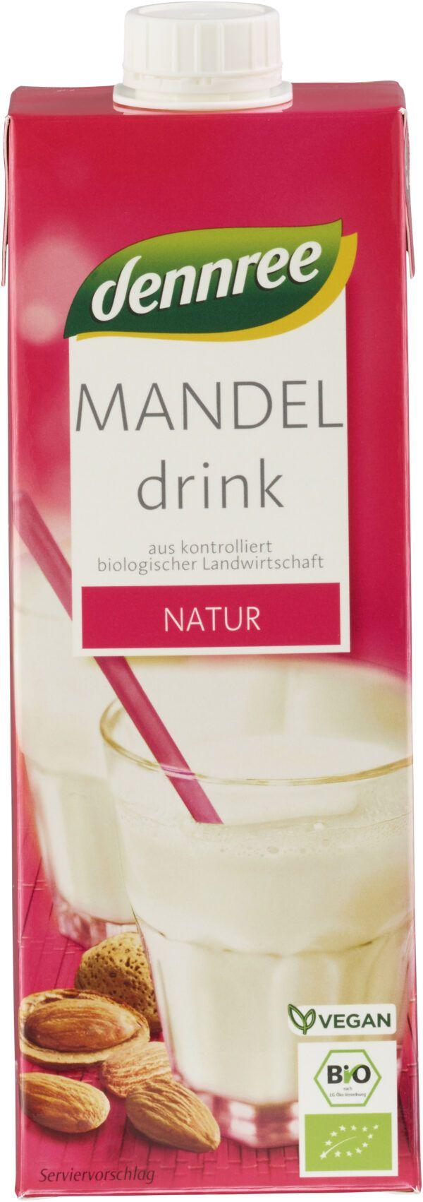 dennree Mandeldrink Natur 10x1l