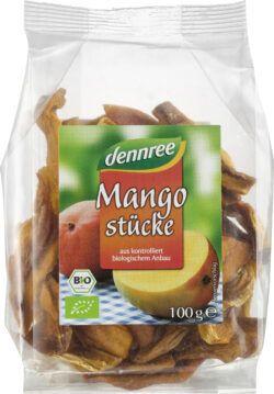 dennree Mangostücke 6x100g