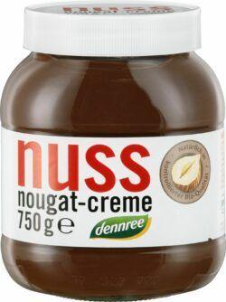 dennree Nuss-Nougat-Creme mit 13% Haselnüssen 6x750g