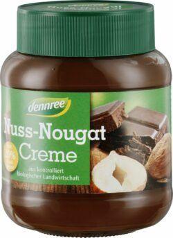 dennree Nuss-Nougat-Creme mit 20% Haselnüssen 6x400g