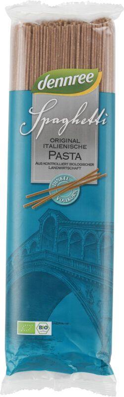 dennree Original italienische Dinkel-Vollkorn-Spaghetti 12x500g