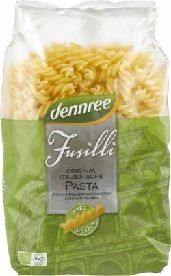 dennree Original italienische Hartweizen-Fusilli 500g