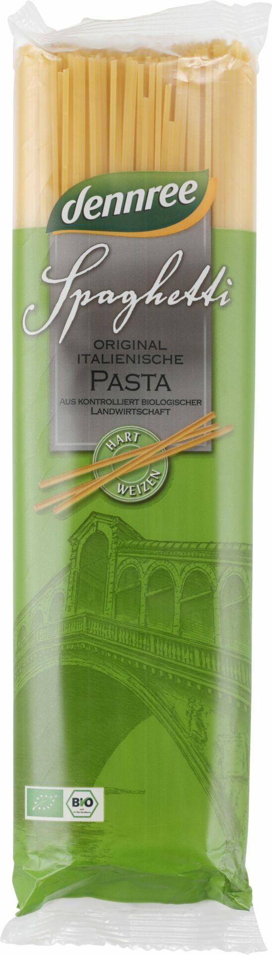 dennree Original italienische Hartweizen-Spaghetti 12x500g