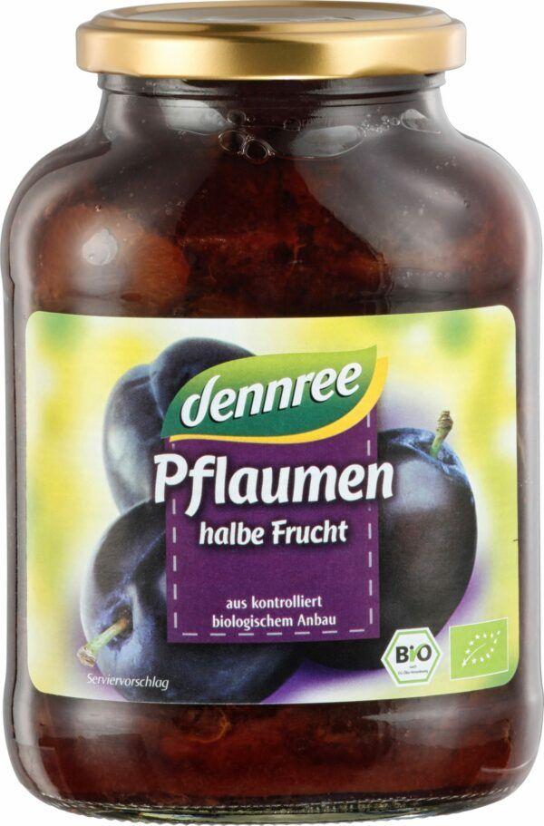 dennree Pflaumen, halbe Frucht 540g