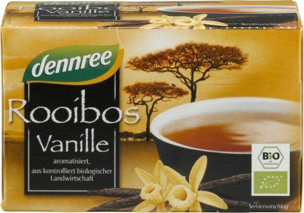 dennree Rooibostee Vanille, aromatisiert, im Beutel 5x30g