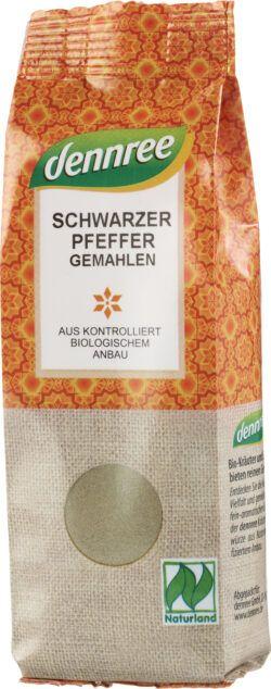 dennree Schwarzer Pfeffer, gemahlen 8x65g