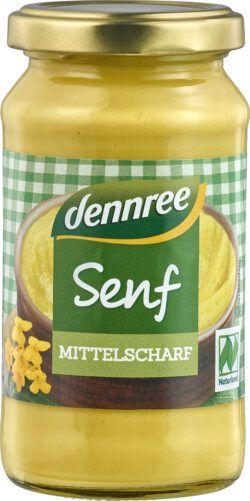 dennree Senf mittelscharf 6x200ml