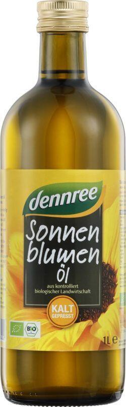 dennree Sonnenblumenöl nativ, kalt gepresst 1l