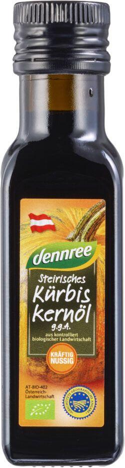 dennree Steirisches Kürbiskernöl g.g.A., geröstet, kalt gepresst 8x100ml