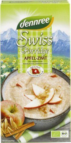 dennree Swiss Porridge Apfel-Zimt 6x400g
