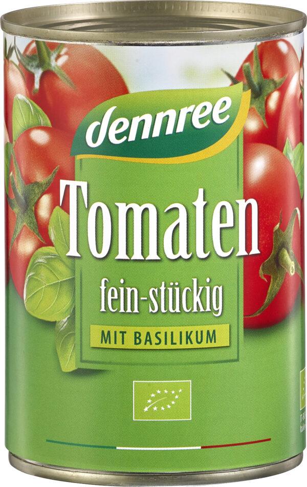 dennree Tomaten fein-stückig mit Basilikum 400g