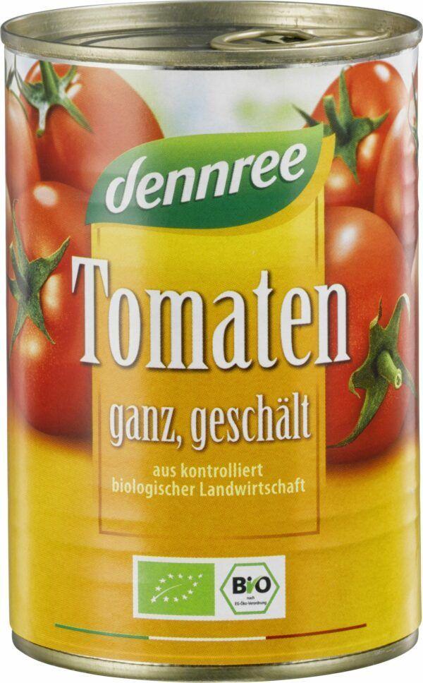 dennree Tomaten ganz, geschält 400g