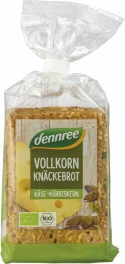 dennree Vollkorn-Knäckebrot Käse-Kürbiskern 6x200g