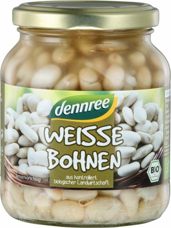dennree Weiße Bohnen 6x350g