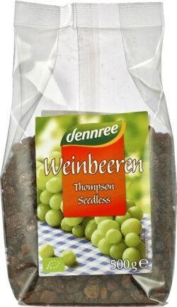dennree Weinbeeren Thompson Seedless 8x500g