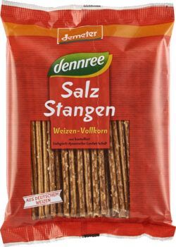 dennree Weizen-Vollkorn-Salzstangen 12x125g