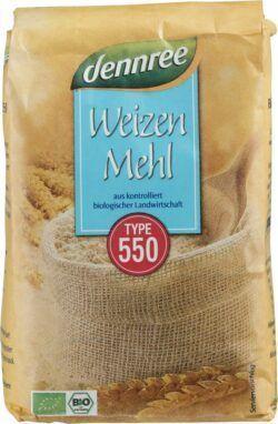 dennree Weizenmehl Type 550 10x1kg