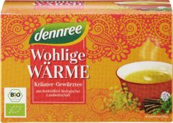 dennree Wohlige Wärme Kräuter-Gewürztee 5x40g