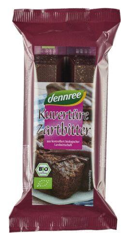dennree Zartbitter-Schokoladenkuvertüre 10x150g