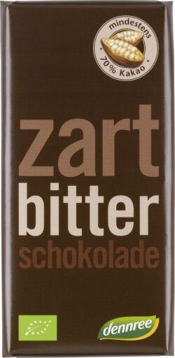 dennree Zartbitterschokolade, mindestens 70% Kakao 10x100g