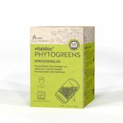 doc phytolabor vitaldoc PHYTOGREENS Sprossenglas 6x1GlasmitDeckel