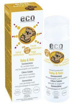 eco cosmetics Baby & Kids Sonnencreme LSF 45 mit Granatapfel und Sanddorn 50ml