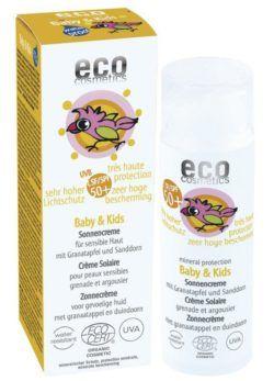 eco cosmetics Baby & Kids Sonnencreme LSF 50+ mit Granatapfel und Sanddorn 50ml
