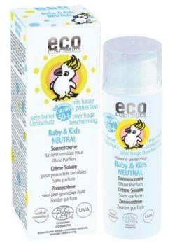 eco cosmetics Baby & Kids Sonnencreme LSF 50+ neutral mit Granatapfel und Sanddorn 50ml