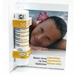 eco cosmetics Lippenpflegestift transparent LSF 30 mit Granatapfel und Sanddorn 4g