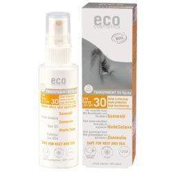 eco cosmetics Sonnenöl transparent LSF 30 mit Granatapfel und Sanddorn 50ml