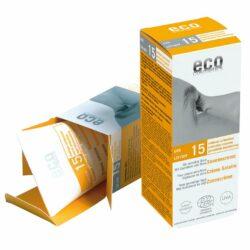 eco cosmetics Sonnencreme LSF 15 mit Sanddorn und Olive 75ml