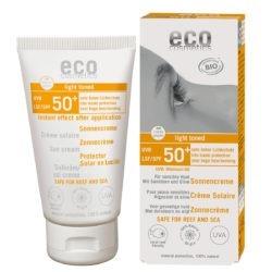 eco cosmetics Sonnencreme LSF 50+ leicht getönt mit Sanddorn und Olive 75ml