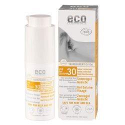 eco cosmetics Sonnengel Gesicht transparent LSF 30 mit Granatapfel und Sanddorn 30ml
