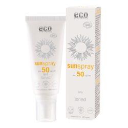 eco cosmetics Sonnenspray LSF 50 getönt Q10 100ml