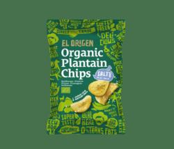 el origen Bio Kochbananen Chips mit Meersalz 8x80g