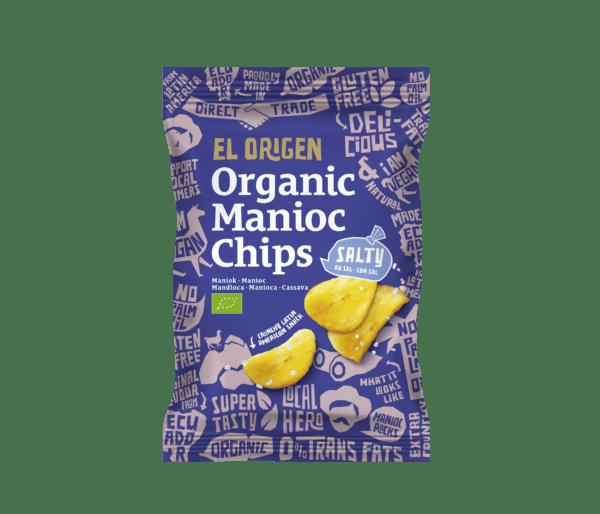 el origen Bio Maniok Chips mit Meersalz, 80g 8x60g